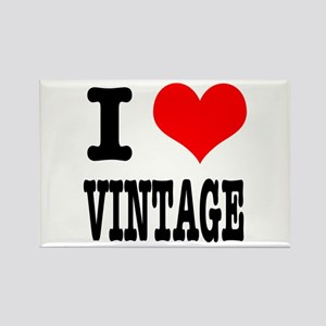 I Heart (Love) Vintage Rectangle Magnet