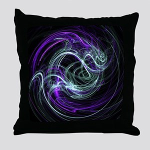 Light Within, Abstract Swirls Throw Pillow