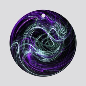 Light Within, Abstract Swirls Round Ornament
