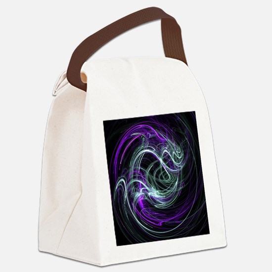 Light Within, Abstract Swirls Canvas Lunch Bag