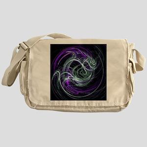 Light Within, Abstract Swirls Messenger Bag