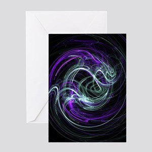 Light Within, Abstract Swirls Greeting Card