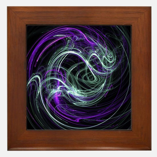 Light Within, Abstract Swirls Framed Tile