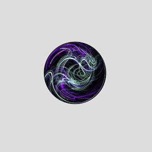 Light Within, Abstract Swirls Mini Button