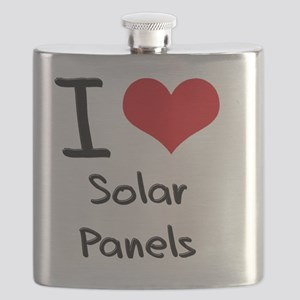 I Love Solar Panels Flask