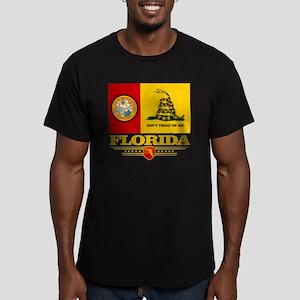 Florida Gadsden Flag Men's Fitted T-Shirt (dark)