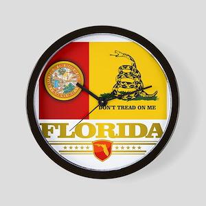 Florida Gadsden Flag Wall Clock