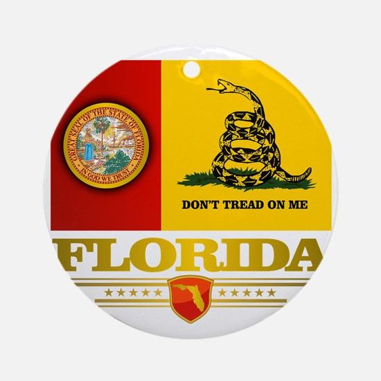 Florida Gadsden Flag Round Ornament