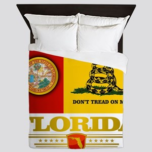 Florida Gadsden Flag Queen Duvet