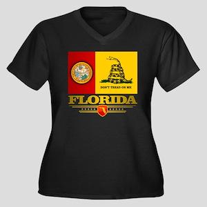 Florida Gads Women's Plus Size Dark V-Neck T-Shirt