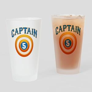 Captain America Drinking Glass