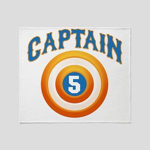 Captain America Throw Blanket