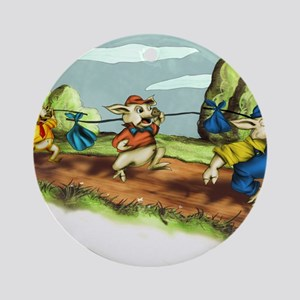 three little pigs Round Ornament