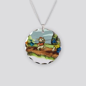 three little pigs Necklace Circle Charm