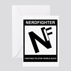 NerdFighter Rating Greeting Card