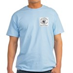Light Blue T-Shirt, black type