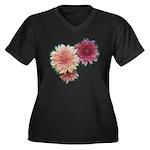 Wax Mums #2 Women's Plus Size V-Neck Dark T-Shirt