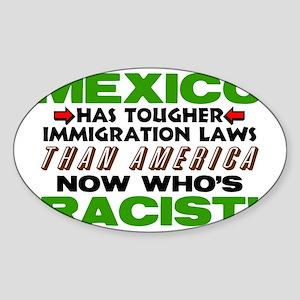 Now Whos Racist! Sticker (Oval)