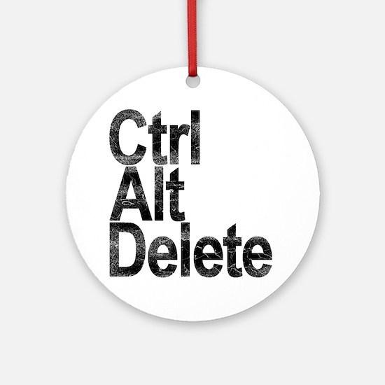 Control Alt Delete Round Ornament