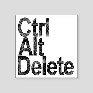 """Control Alt Delete Square Sticker 3"""" x 3"""""""