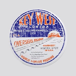 Vintage Key West Round Ornament