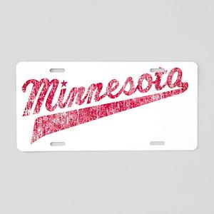 Faded Minnesota Aluminum License Plate