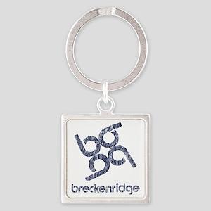 Vintage Breckenridge Square Keychain