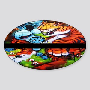 Equality Tiger with Black Strip Sticker (Oval)