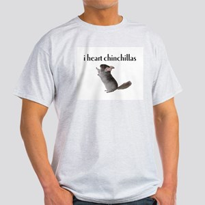 i heart chinchillas Ash Grey T-Shirt