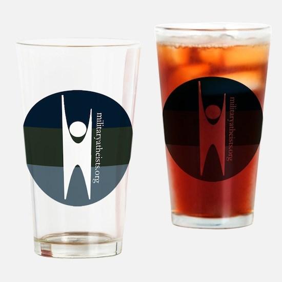 MAAF happy human Drinking Glass