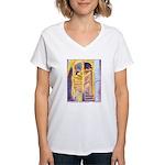 La Conciergerie Watercolor Women's V-Neck T-Shirt