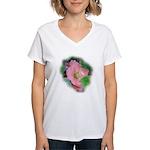 Camellia Japonica Women's V-Neck T-Shirt