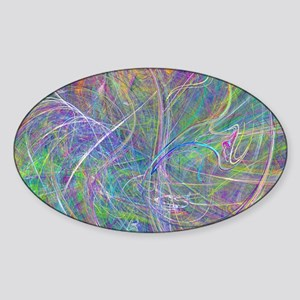 Heart of Light – Abstract Flames Sw Sticker (Oval)