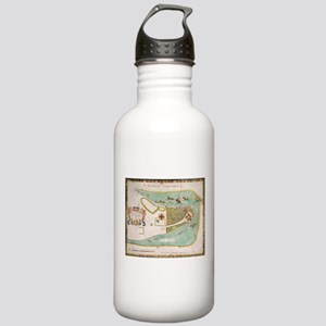 Historical Map of New Stainless Water Bottle 1.0L