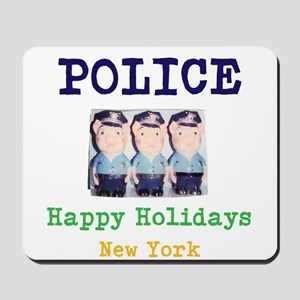 POLICE HAPPY HOLIDAYS, NEW YORK. Mousepad