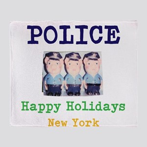 POLICE HAPPY HOLIDAYS, NEW YORK. Throw Blanket