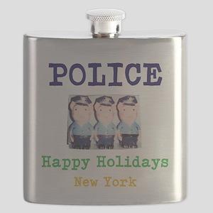 POLICE HAPPY HOLIDAYS, NEW YORK. Flask