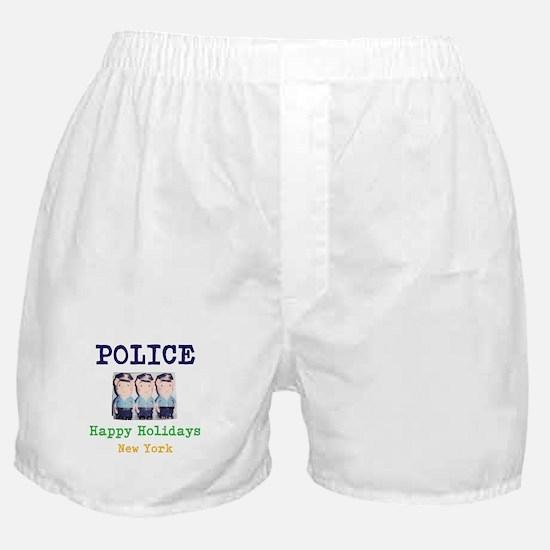 POLICE HAPPY HOLIDAYS, NEW YORK. Boxer Shorts
