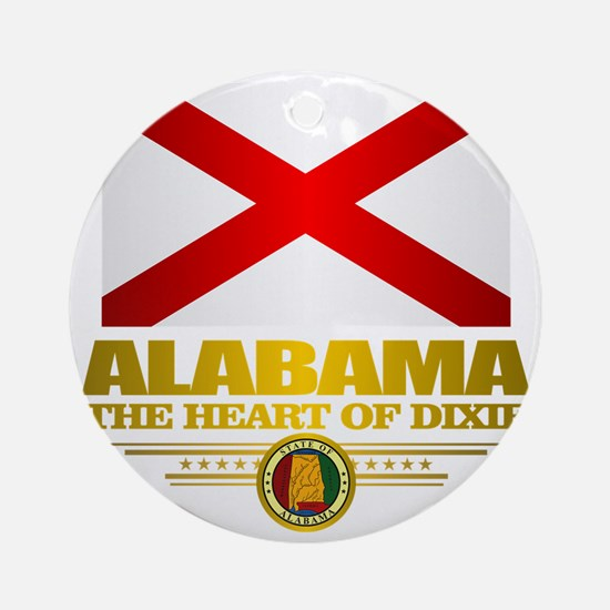 Alabama Pride Round Ornament