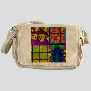 Abstract Color Collage Messenger Bag