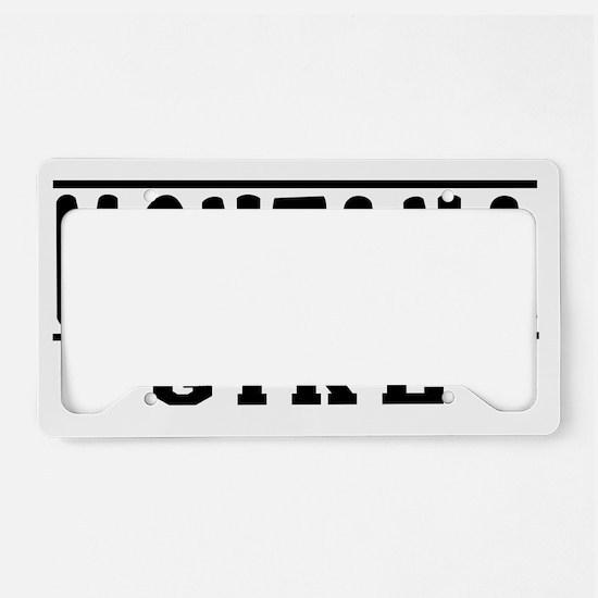 Montana Girl Designs License Plate Holder