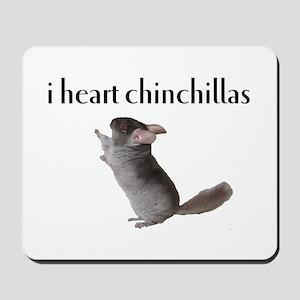 i heart chinchillas Mousepad