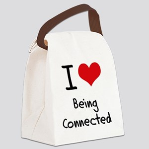 I love Being Connected Canvas Lunch Bag