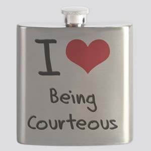I love Being Courteous Flask