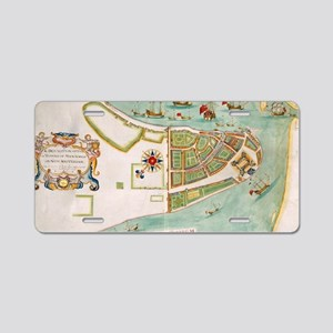Historical Map of New York Aluminum License Plate