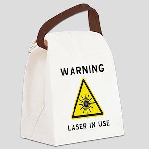 Laser Warning Sign Canvas Lunch Bag