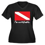 I'm certifiable Women's Plus Size V-Neck Dark T-Sh