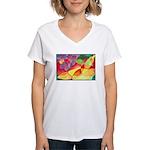 Fruit Watercolor Women's V-Neck T-Shirt