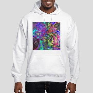 Glowing Burst of Color Deva Hooded Sweatshirt