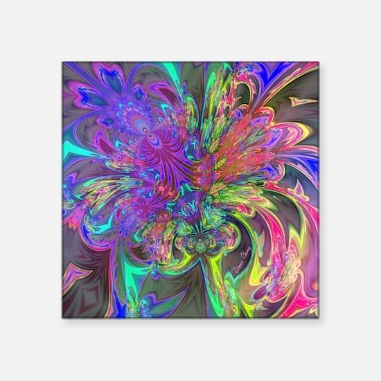 "Glowing Burst of Color Deva Square Sticker 3"" x 3"""